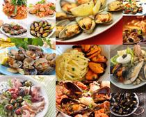 贝壳海鲜食物摄影高清图片