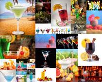 果汁飲料展示攝影高清圖片