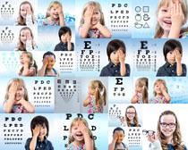 近视儿童摄影高清图片