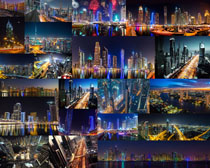 城市夜空美景攝影高清圖片