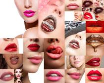 性感的美女嘴唇摄影高清图片