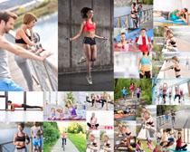 一起锻炼的欧美人物摄影高清图片