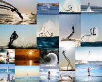 水上飞行器人物摄影高清图片