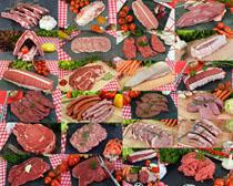 香肠肉类摄影高清图片