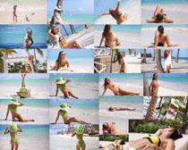 沙滩比基尼性感美女摄影高清图片