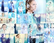 高科技美女摄影高清图片