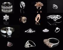 钻石戒子摄影高清图片