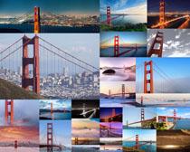 国外桥梁建筑景观拍摄高清图片