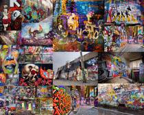 涂鸦墙壁风摄影高清图片