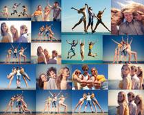 国外青年男女拍摄高清图片