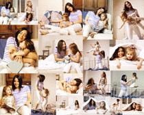 妈咪与女儿拍摄高清图片