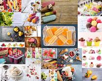 彩色冰棒冰淇淋摄影高清图片
