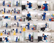 打扫卫生的男人摄影高清图片
