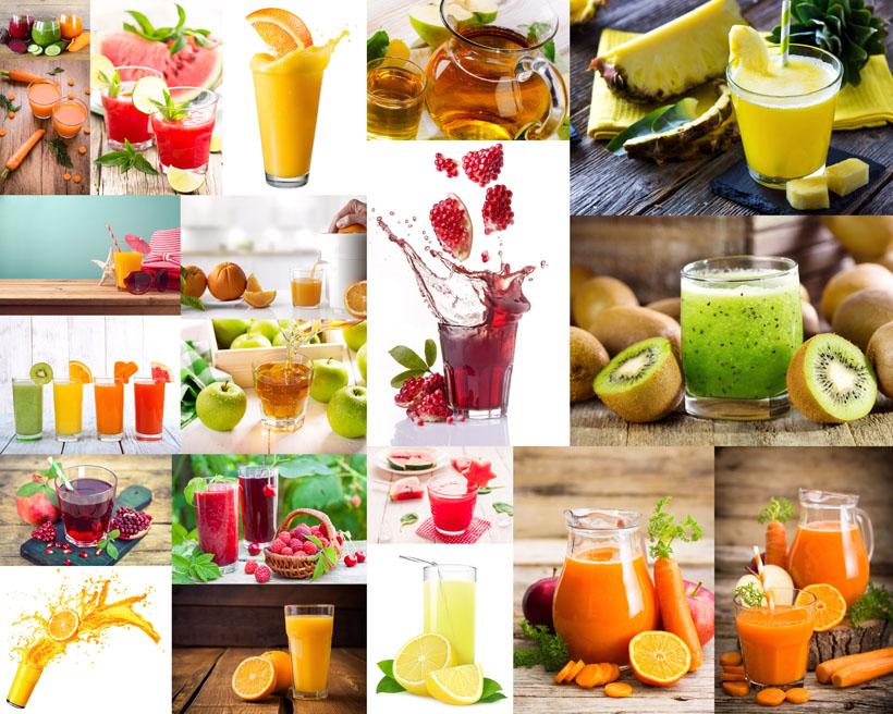 水果与果汁拍摄高清图片
