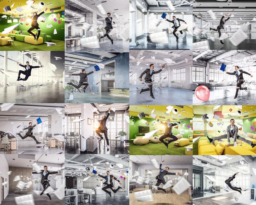 兴奋的商务男人摄影高清图片