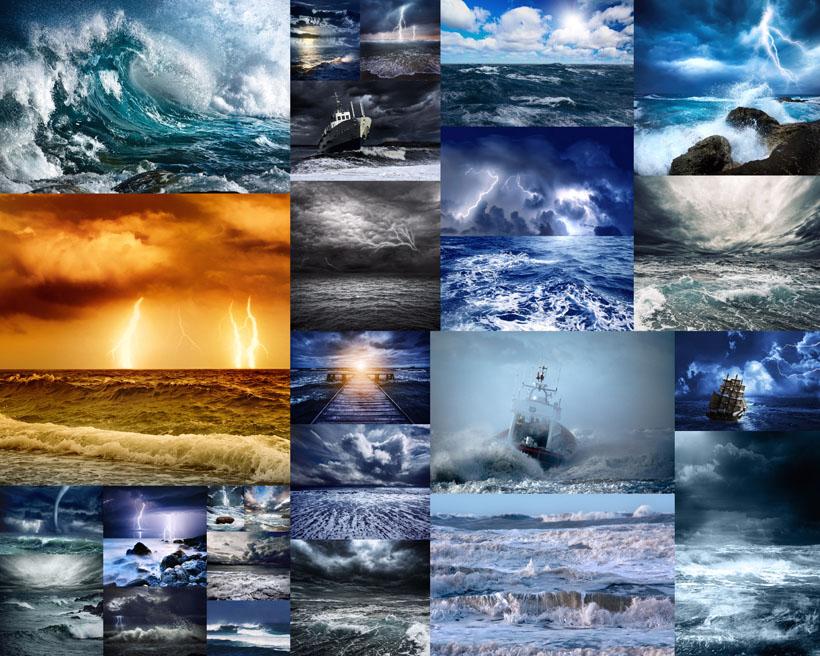 海浪风暴摄影高清图片