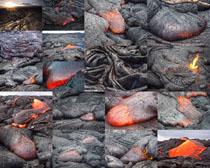 火焰岩石摄影高清图片