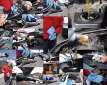 汽车发动机保养摄影高清图片