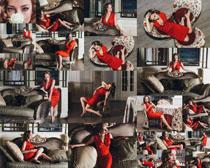 沙发气质美女摄影高清图片
