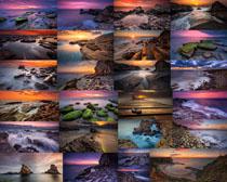 海洋与石头摄影高清图片