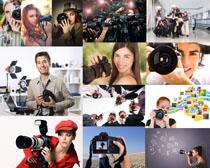 单反相机摄影师高清图片