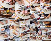 制作寿司的厨师摄影高清图片