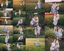 野外风景母女摄影高清图片