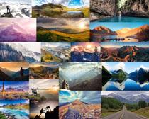 雪山与山峰摄影高清图片