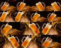 麦子与啤酒摄影高清图片