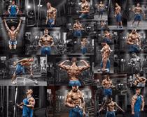 健身肌肉男人摄影高清图片