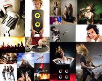 音乐与欧美时尚人物高清图片