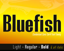 Bluefish Demo Font Family 英文字体
