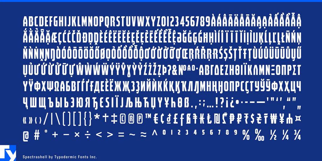 Spectrashell Font 英文字体