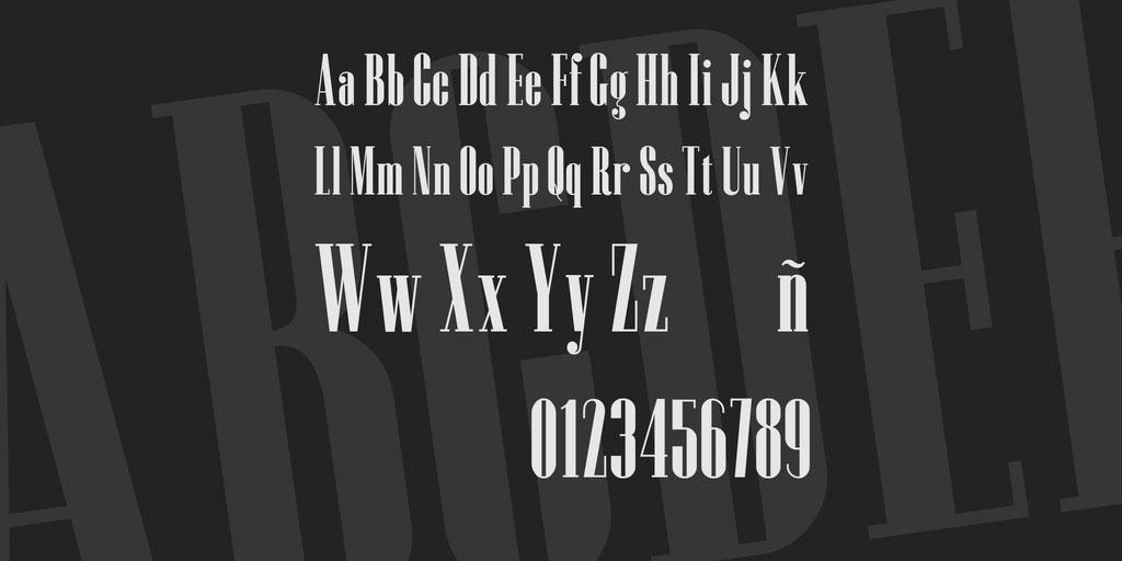 Czesko Font 英文字体