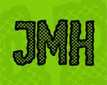 JMH Escamas Font Family 英文字�w