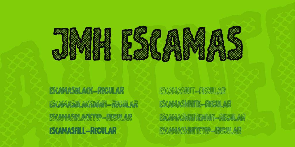 JMH Escamas Font Family 英文字体