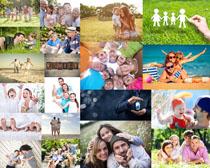 国外快乐的一家人摄影高清图片