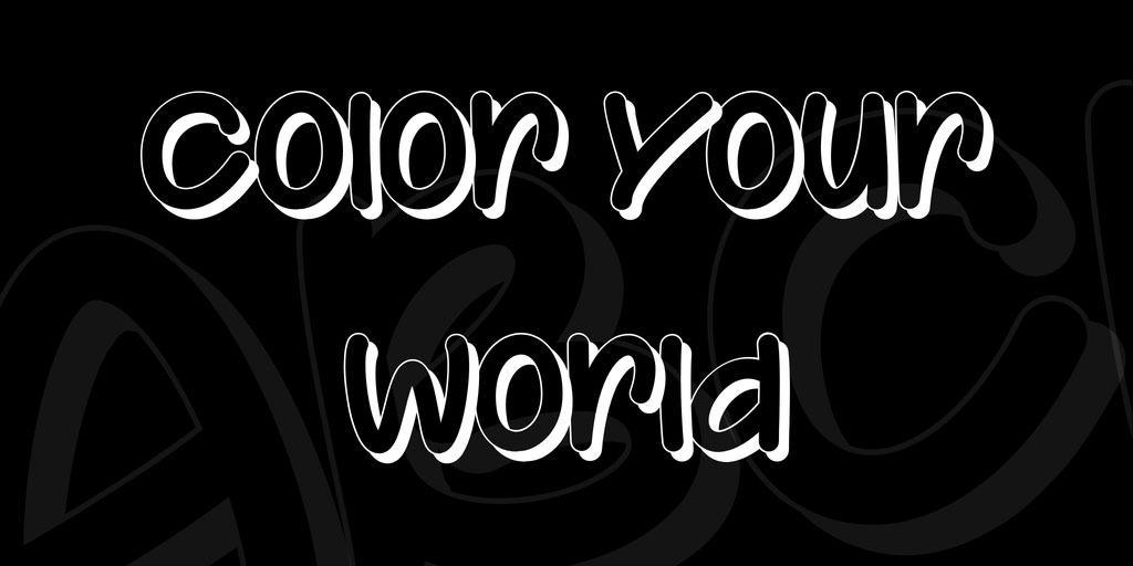Color Your World Font 英文字体