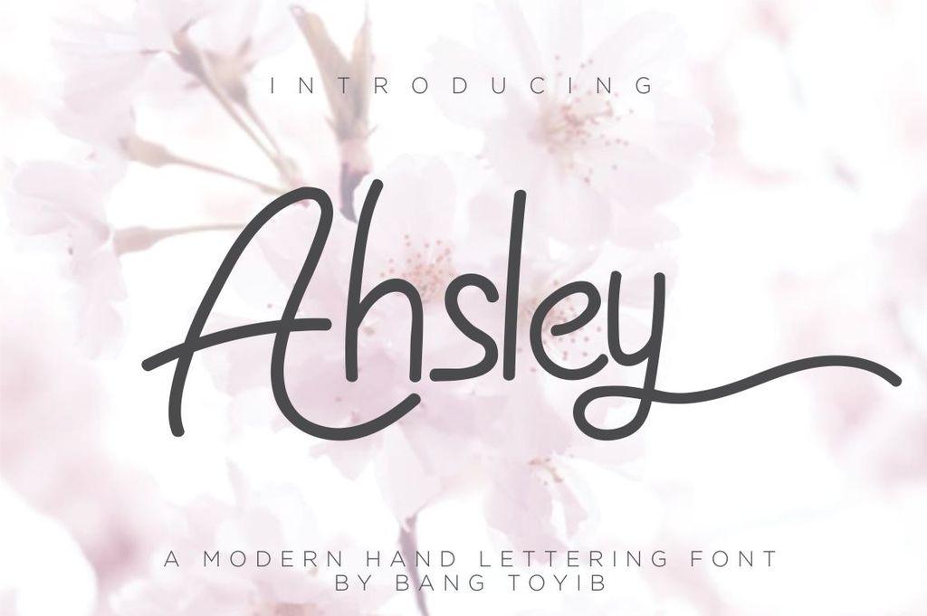 Ahsley Font 英文字体