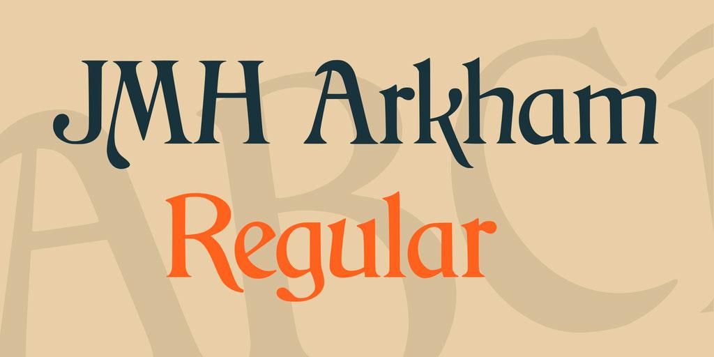 JMH Arkham Font 英文字体