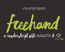 Freehand Script Font Family с╒ндвжСw