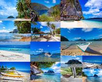 海岛风光船摄影高清图片