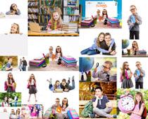 开心快乐学生摄影高清图片