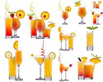 果汁与饮料杯摄影高清图片