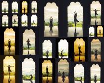 姿势瑜伽女子摄影高清图片