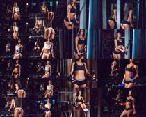 健身器材与美女摄影高清图片