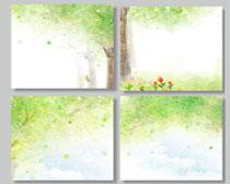 春季活动展板背景设计PSD素材