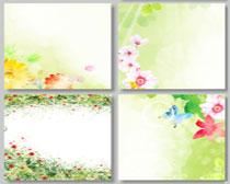 清爽春季展板背景设计PSD素材