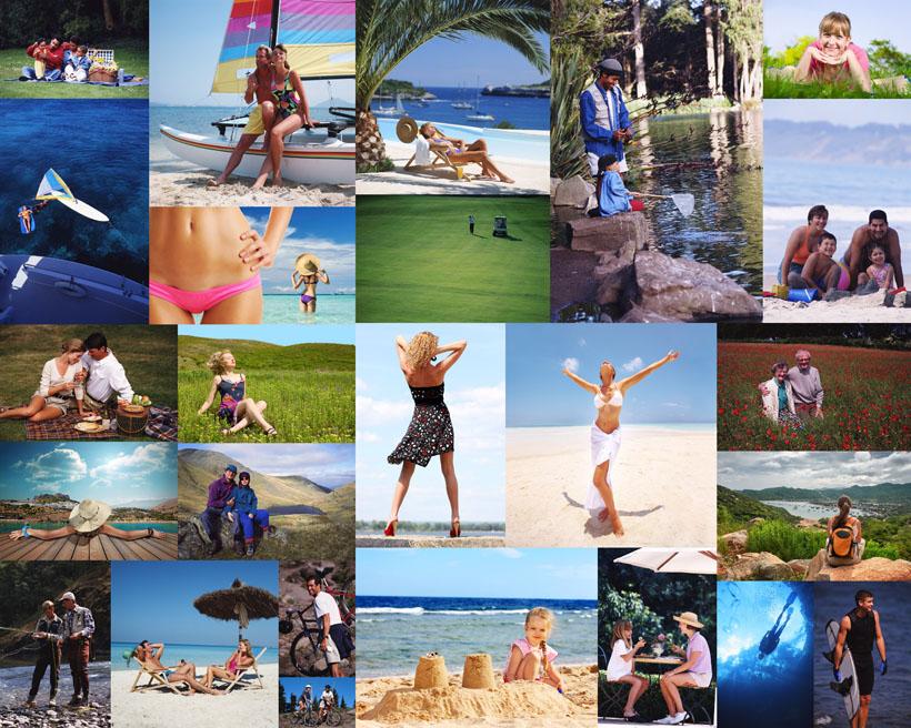 沙滩大海人物拍摄高清图片