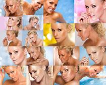 歐美女人臉部肌膚攝影高清圖片